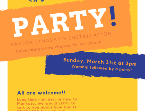 March 31st 'Pastor Lindsay's Installation'